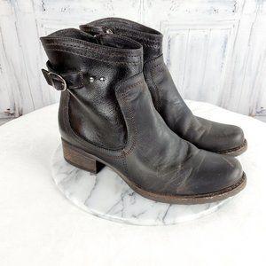 V Italia Leather Moto Boots